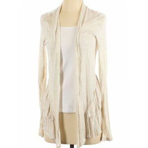 Pins and Needles Women Ivory Cardigan M